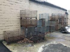 Lot of (29) Steel Wire Baskets