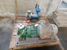 Pallet of Miscellaneous Pumps - Chempump, Dickow Pump