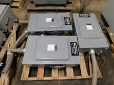 Lot of (3) Square D 200 Amp Disconnect Switchces