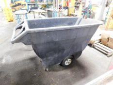 Plastic Dump Cart Hopper on Wheels