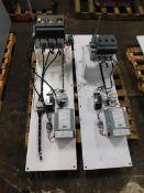 (2) Large MCC Buckets. ABB OS 800L03. ABB OS 400J03. 15 A Breakers. 3 KVA Transformers.