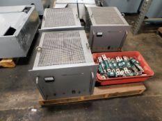 Lot of (3) Sorensen AC Regulators / Power Supplies and Buss KDP Fuses