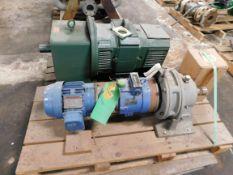 Reliance DC Motor w/ Philadelphia Gear Reducer and Unused Sumitomo Gear Motor
