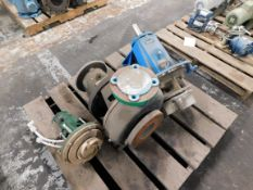 Pallet of Miscellaneous Centrifugal Pumps - Goulds, Gusher, Fybroc