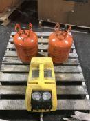 Stinger Refrigerant Recovery 2000 and (2) Dupont SUVA 404A Refrigerant Tanks