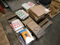 Pallet of Exit Signs / Lights