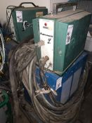 Lot (3) pcs MTS Mid - States Welder CP3000 Constant Voltage Arc Welder with (2) MK Cobramatic Mig We