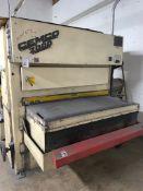 Cemco 2000 VR-2152SEMW Wide Belt Sander SN/ JR1193 Includes Work Bench & Spare Parts