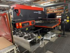 Amada VIPROS 357 CNC Queen CNC Turret Punch, Includes Assorted Tooling, Components, Spare Parts & Ac