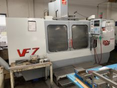 (2000) Haas VF-7 CNC Milling Machining Center with 20hp Vector Drive Motor 12000RPM, DOM November 2