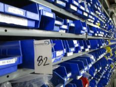 (10,000+ PCS) Assorted NEW Hardware in Storage Bins, Includes: 7 Bays of Storage Racks w/ Racks