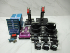 Lot to Include: (20) Clamps, Lenses, Computer Parts
