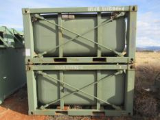 Lot to Include: (2) Heavy Duty Aluminum Fuel Tanks with Steel Frame
