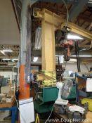 Gorbel Half Ton Jib Crane with Half Ton Pneumatic Hoist C20