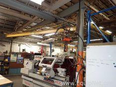 500 LB Capacity Jib Crane with 500 LB Pneumatic Hoist C14