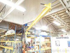 1/2 Ton Wall Jib Crane with Budgit 1000 Pound Hoist