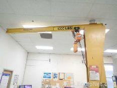 Half Ton Jib Crane with Harrington Half Ton Electric Hoist C21