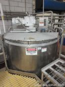 500 Gallon Stainless Steel Jacketed Mixing Tank With Side Scrapper Agitator