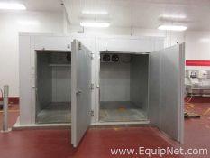 IB Imperial Brown UDS 4 Double Door Walk In Cooler With 6 Fans