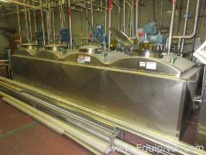 APV Crepaco Sanitary Stainless Steel Flavor Vats With Agitators And Pumps