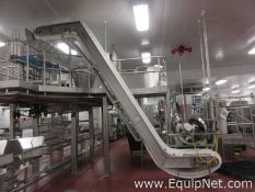 Incline Z Style Food Grade Conveyor Approx. 20 Foot High