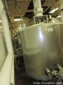 150 Gallon Stainless Steel Mojonnier Kettle With 3 HP Agitator