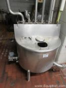 Approx. 100 Gallon Stainless Steel Tank With Top Cover