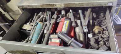 Tool boxes with numerous tooling