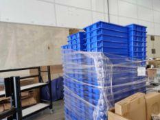 Blue stackable bins