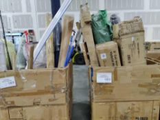 (2) Pallets of Solace matt, wash cloths, Peloton mats, resistance band, and bottle, blinds diapers,