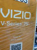 "ONE - Vizio V-series 75"" TV ( Grade A -Tested)"
