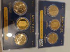 2 John Tyler Presidential Coin Sets