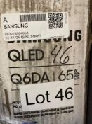 """ONE - Samsung QLED 65"""" TV ( Grade A -Tested)"""