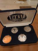 Utah Bicentenial Set in Case, 3 oz of silver, one copper?