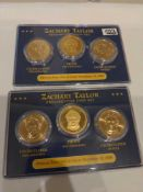 2 Zachary Taylor Presidential Coin Sets