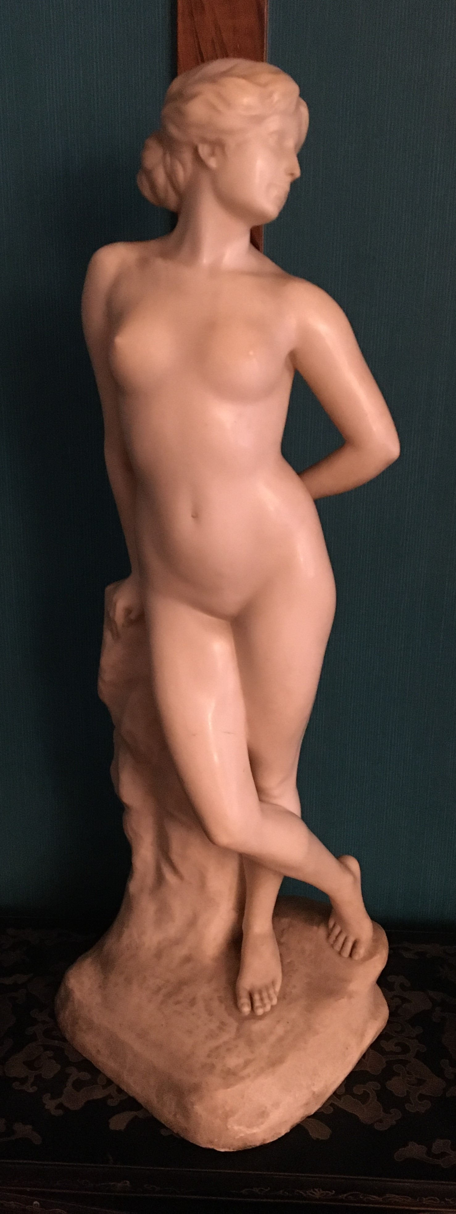 Ernst Seger Jugendschil Alabaster nude of a woman