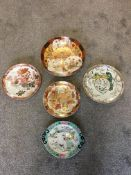 Oriental chargers, mixed designs mainly signed.