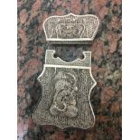 19thc Chinese silver filigree card case,