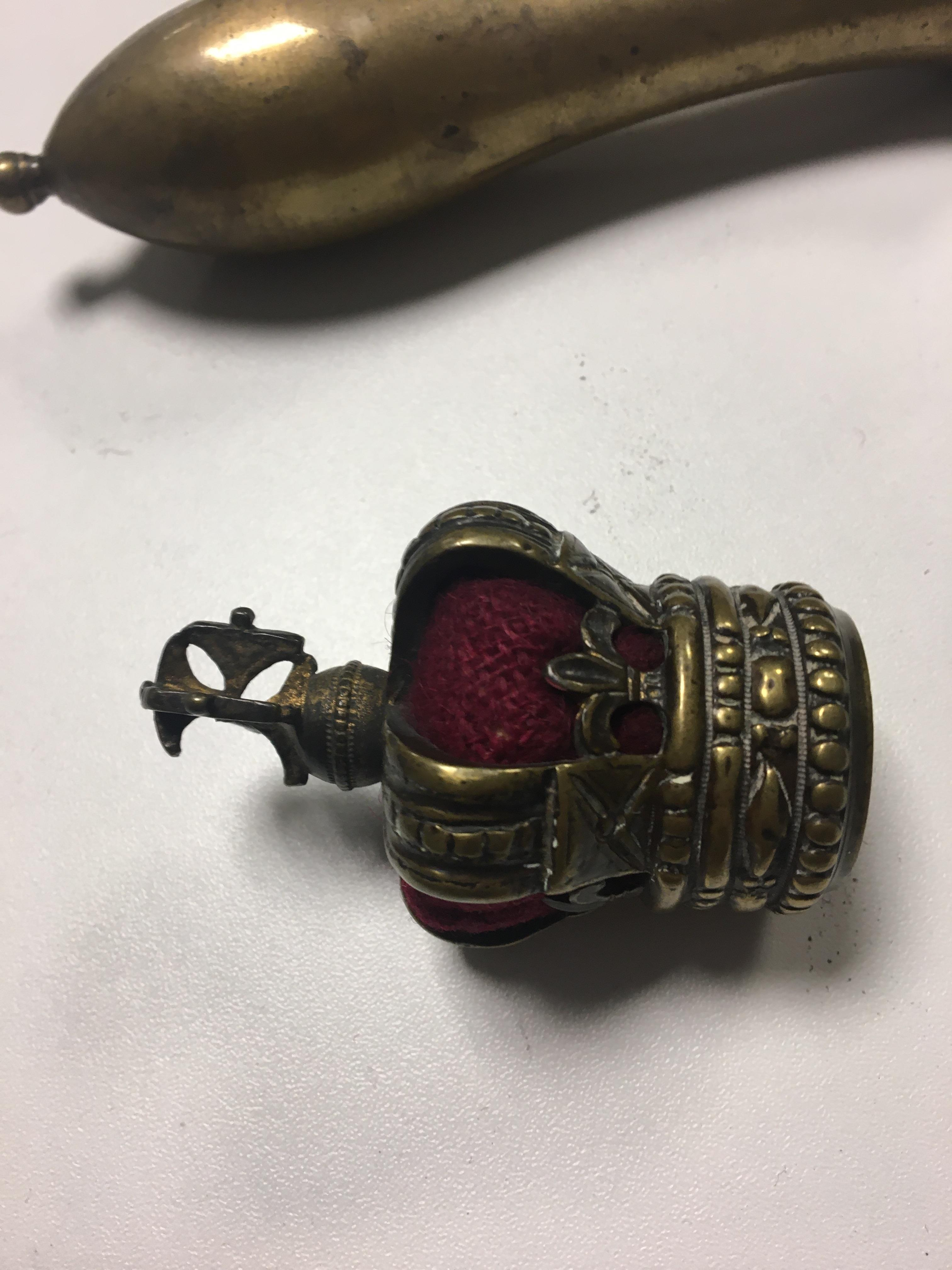 C1800 Crown topped tipstaff with royal Cipher and - Image 10 of 13