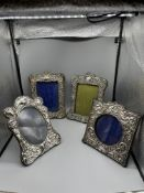 Four HM Silver Photo frames approx Six x Four inch