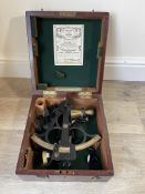 1950`s cased ships sextant