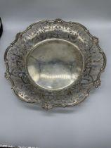 Mappin & Webb HM Silver filigree bowl, Sheffield,