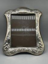 HM Silver Art Nouveau style Frame London, 1983 KF