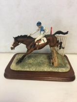 Border Fine Arts Jockey jumping fence, 1980 by Gee