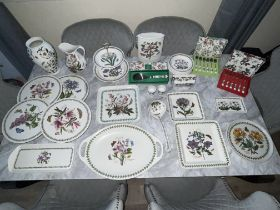 50 Pieces Portmeirion Botanicals Ceramics. All in Excellent Condition