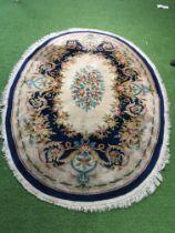 Oval floral rug