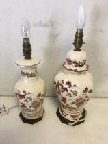 Two Masons Ironstone lamps