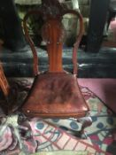Set of Eight 19th c Chippendale style chairs in Ir