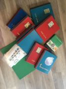 Qty of empty stamp stock albums and stamps
