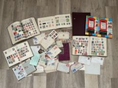 Qty World and GB stamps in albums and loose.